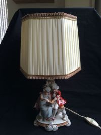 53 best Dresden porcelain lamps images on Pinterest