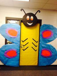 Butterfly spring classroom door | Classroom Ideas ...