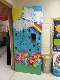Spring rainbow Class Door decoration