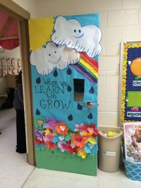 Spring into learning with this cute classroom door idea ...