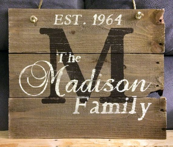 Custom Name Sign Pallet Last Name Wood Sign Rustic Family