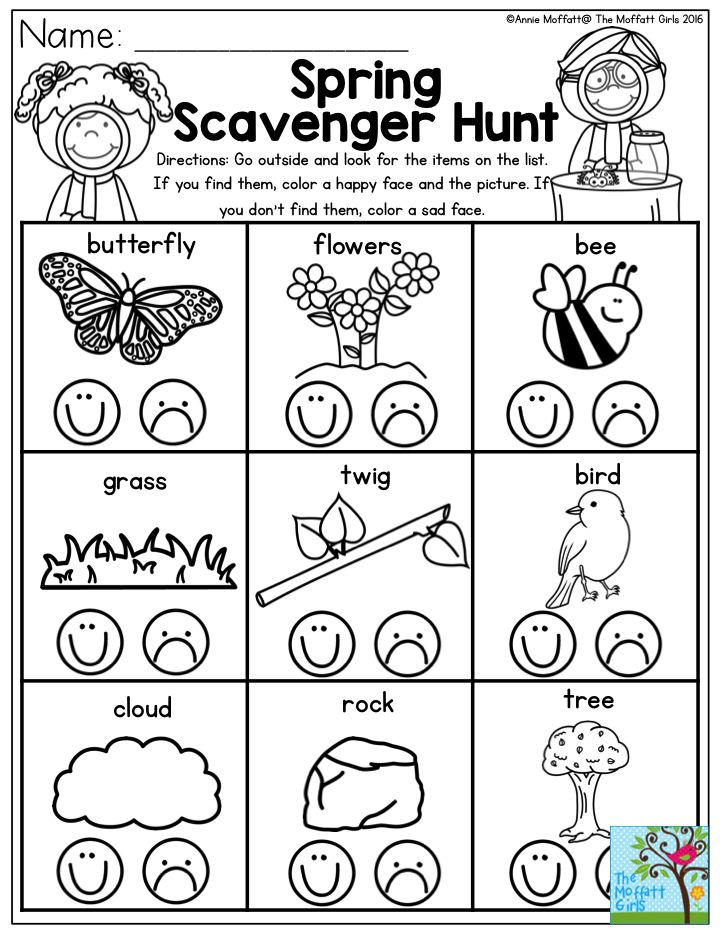 25+ best ideas about Kindergarten Scavenger Hunt on