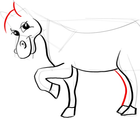 Step 12 horse How to Draw Cartoon Horses with Easy Step by