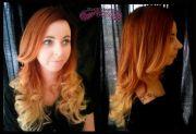 copper ombre orange hair