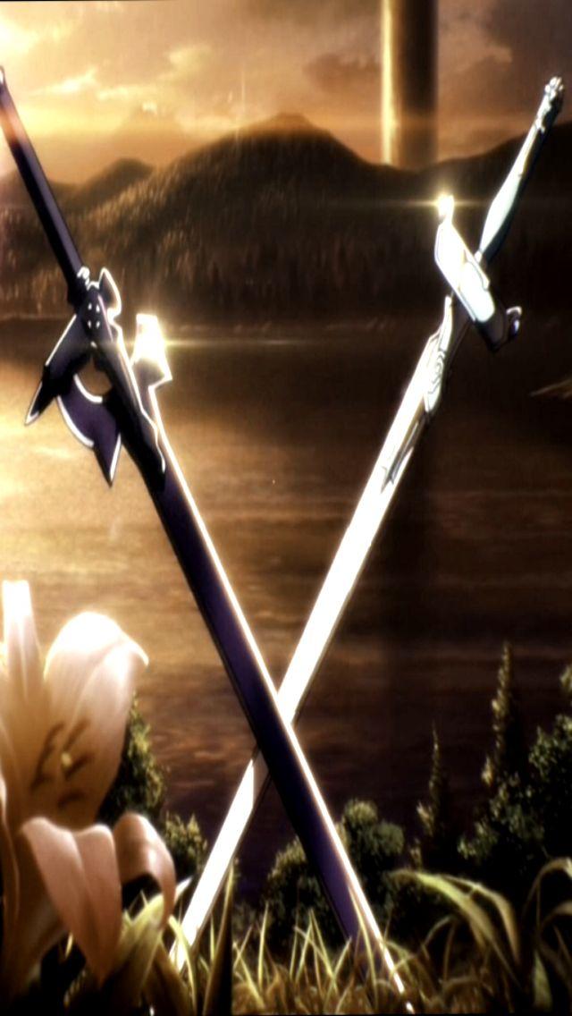 Racer X Iphone Wallpaper Download Sword Art Online Swords Wallpaper Gallery