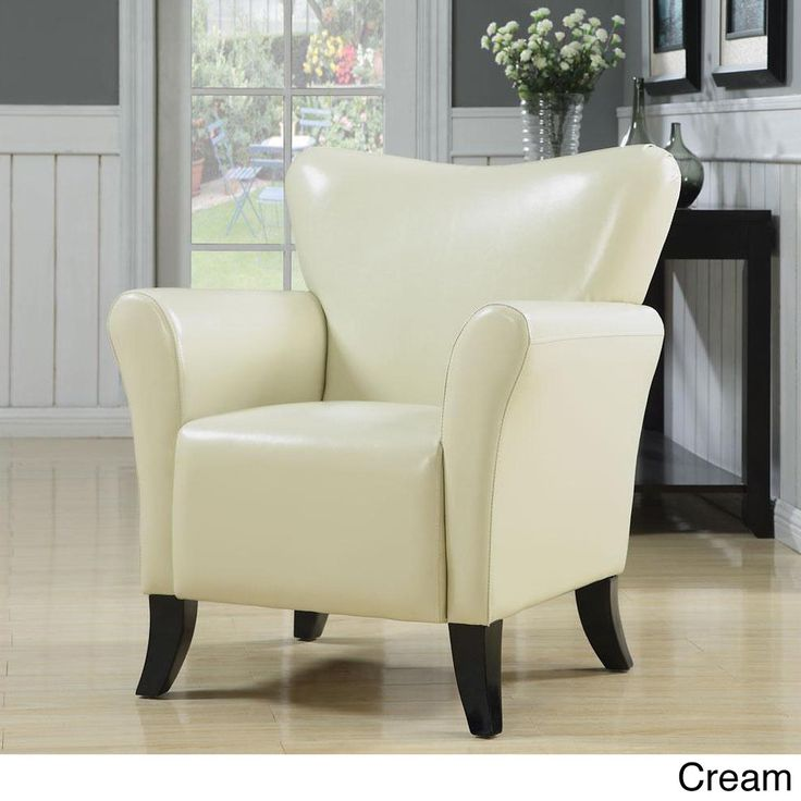 Gleason Cream Accent Chair  Vinyls Colors and Chairs