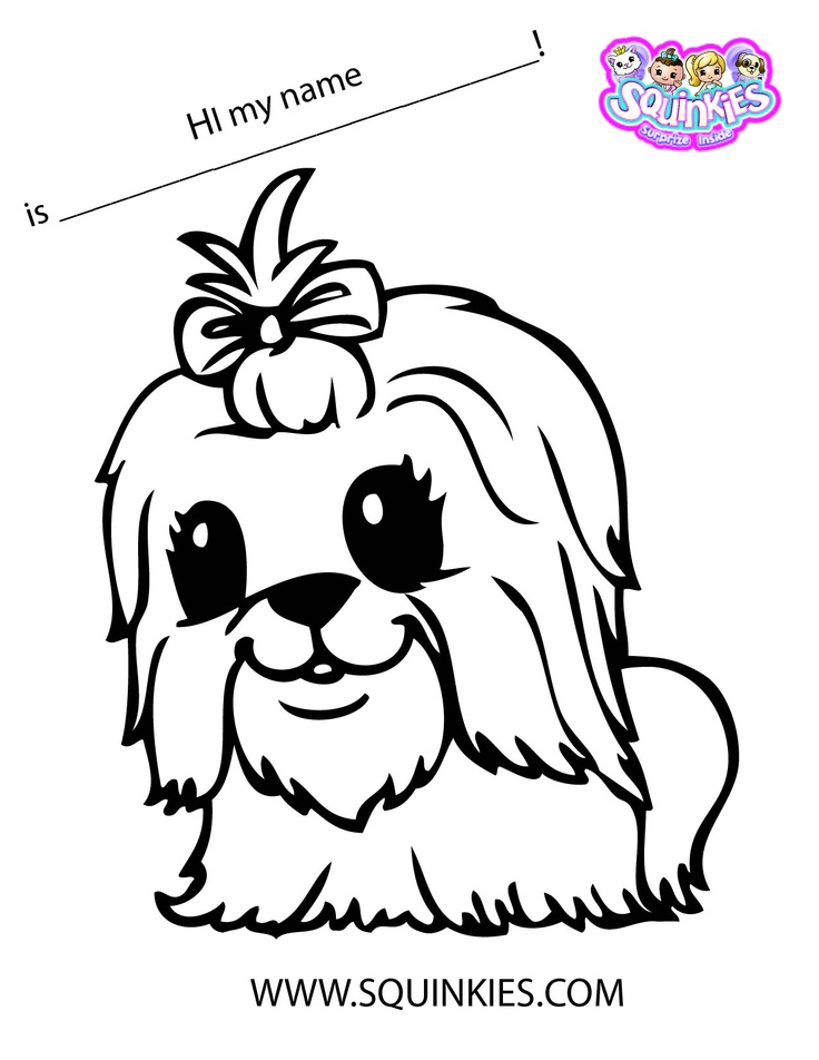 Squinkies Coloring Page Squinkies Activities