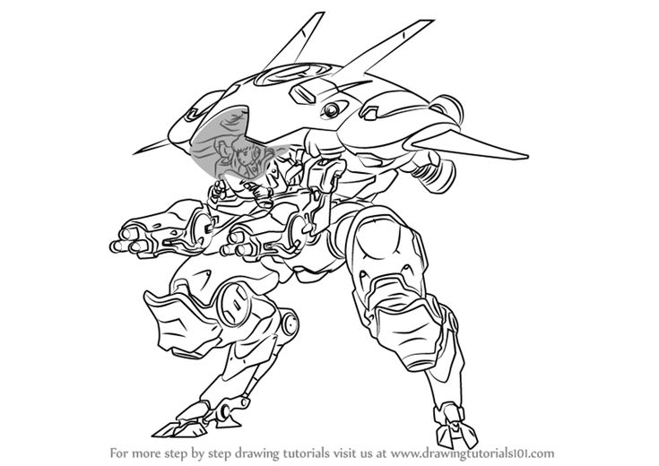 Learn How to Draw D.Va from Overwatch (Overwatch) Step by