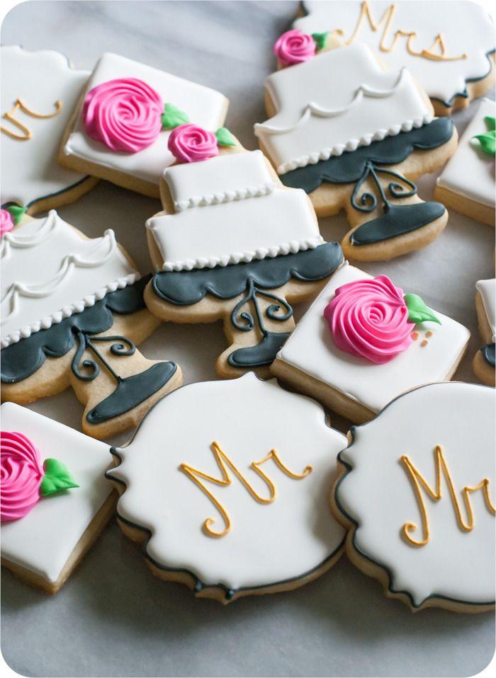 17 Best ideas about Wedding Cookies on Pinterest  Wedding shower cookies Decorated wedding