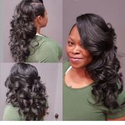 cute sew in style hair