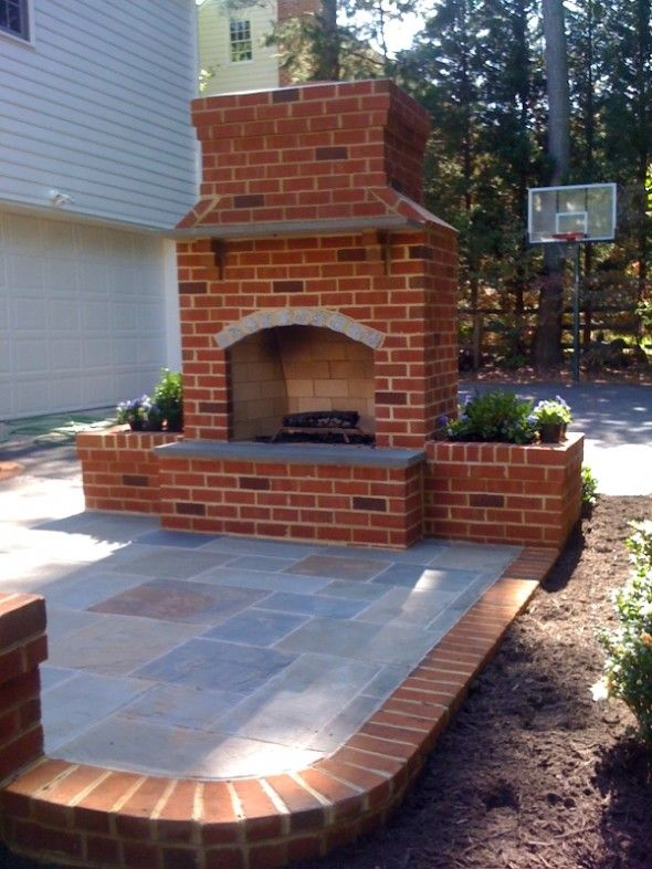 Outdoor Brick Fireplace Designs  Woodworking Projects & Plans