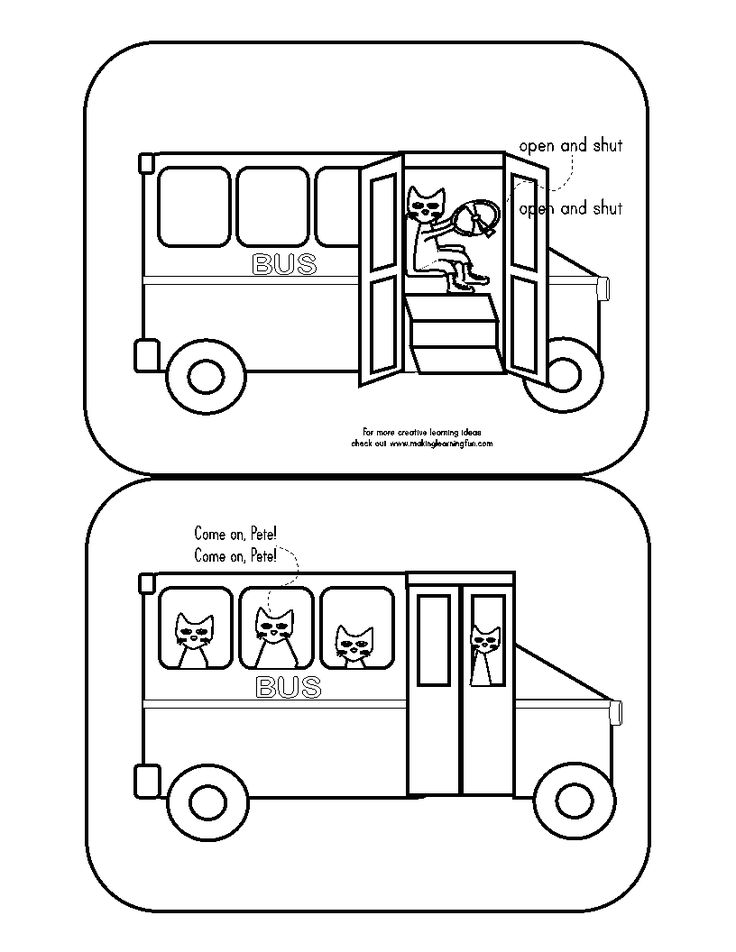 64 best Pete the Cat and wheels on bus images on Pinterest