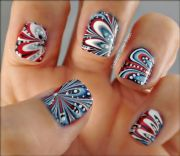 patriotic nails - fourth of july