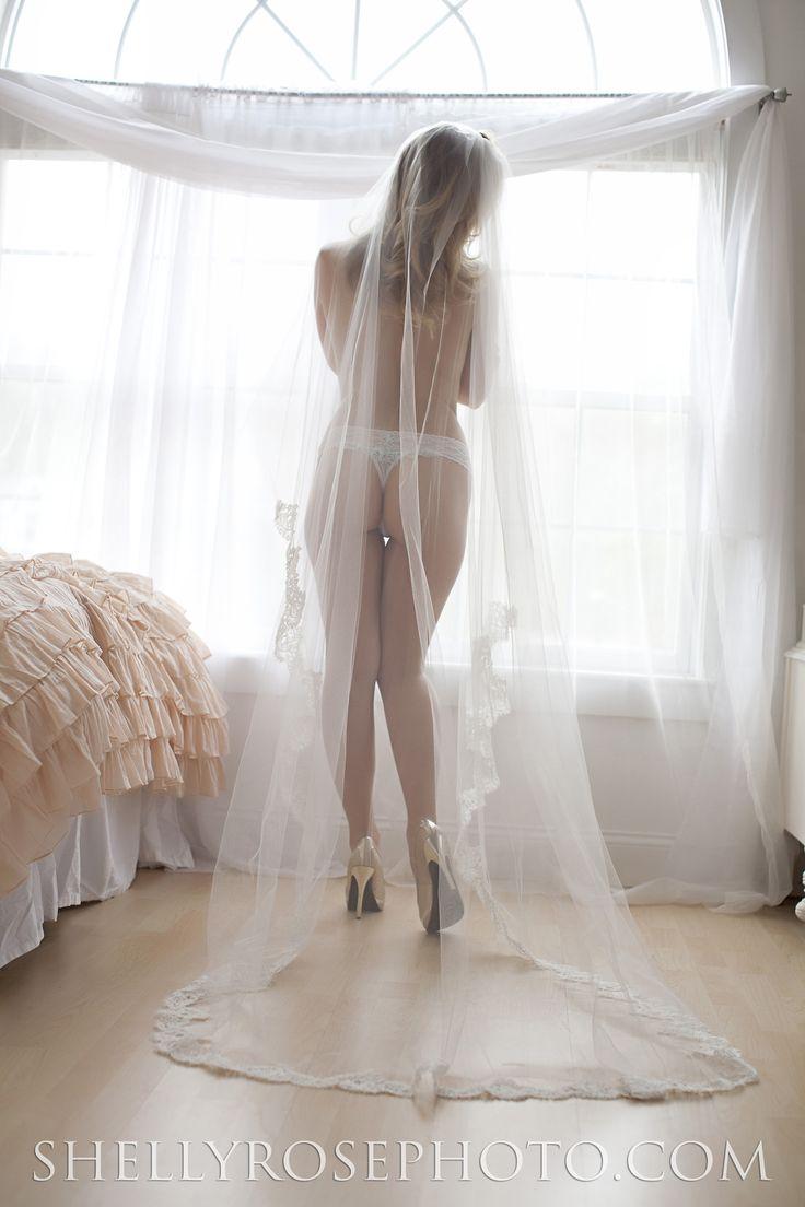 For his eyes only Long Veil Feminine and romantic bridal Boudoir shoot  Elegant Bridal Wedding