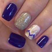 opi nordic purple gel nail art