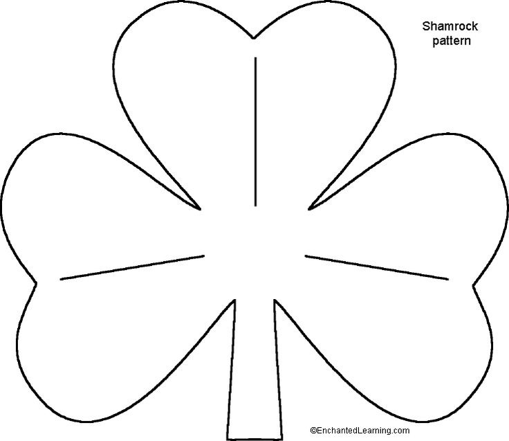 St. Patrick's Day Shamrock Templates for Crafts