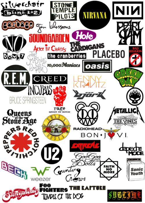 Best Alternative Rock Bands Logos
