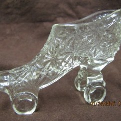 Kitchen Chairs On Rollers Used Tables For Sale Vintage Fenton Glass Ladies Roller Shoe | ...