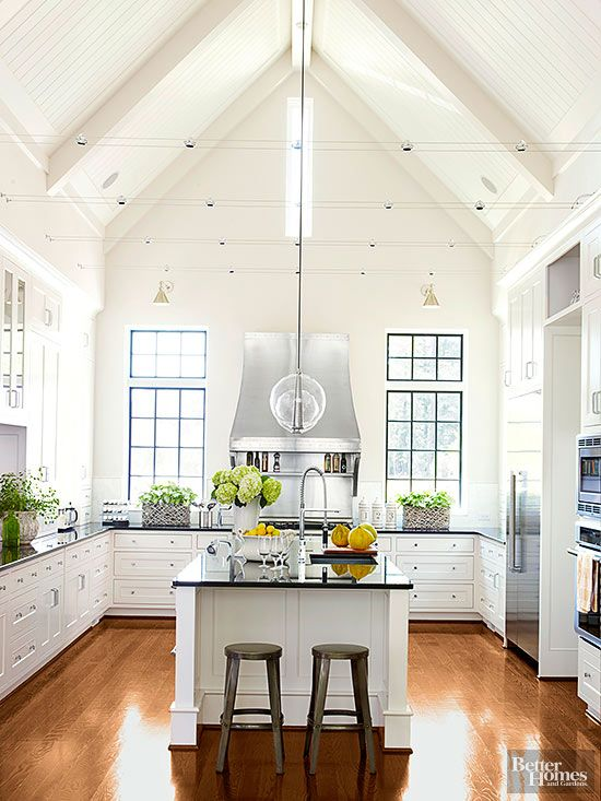Dramatic Kitchen Architecture  Cabinets Vaulted ceilings