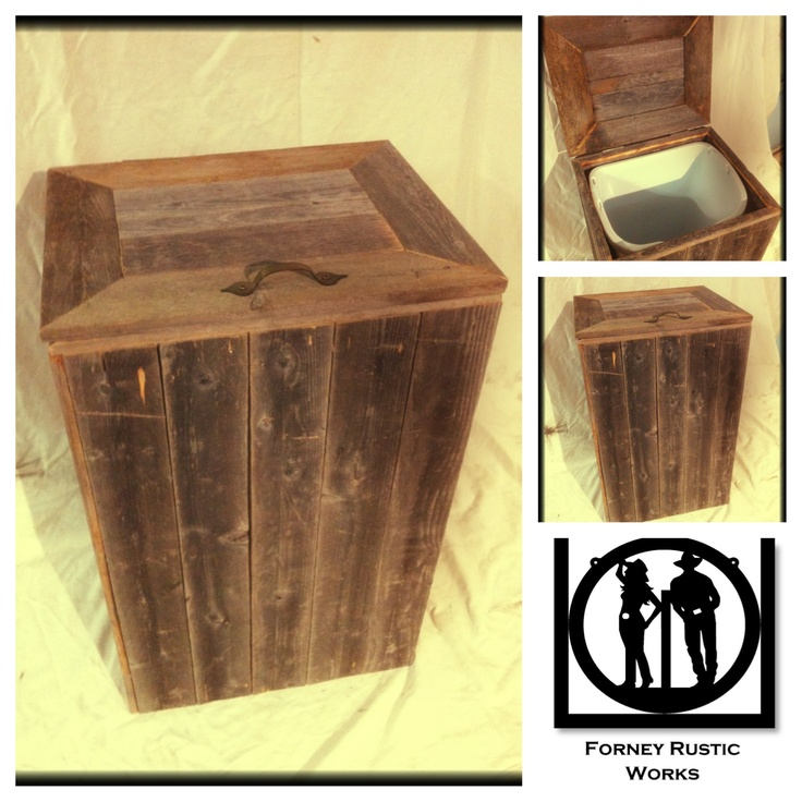 Reclaimed Wood Trash Can  wood projects  Pinterest