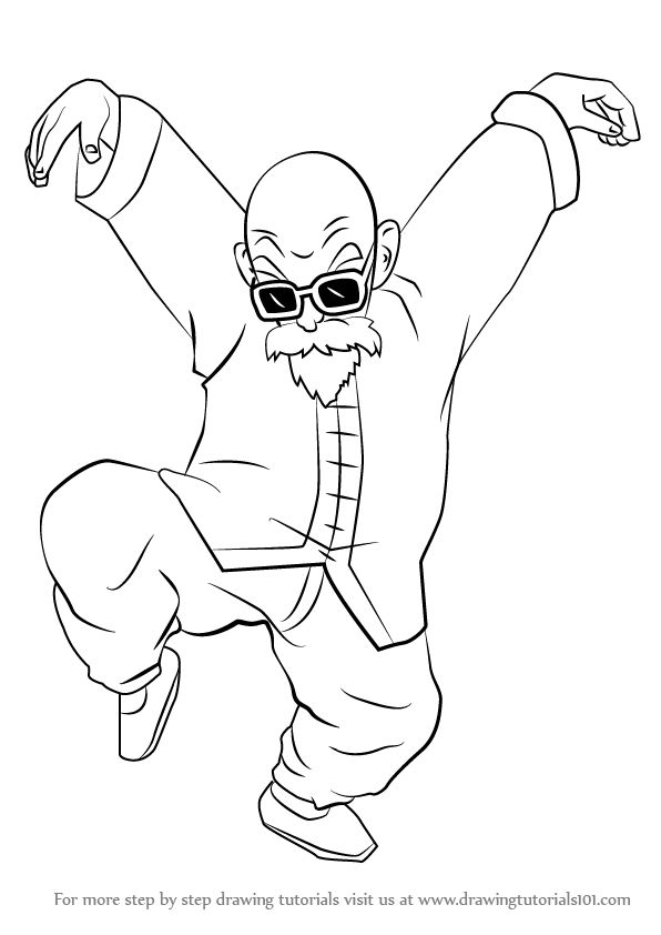 Learn How to Draw Master Roshi from Dragon Ball Z (Dragon