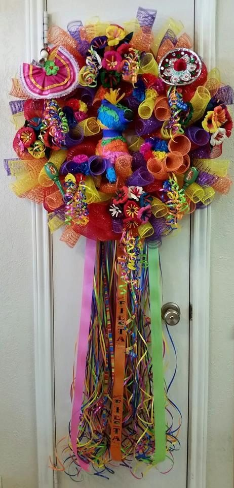 Viva FiestaCinco de Mayo Wreath Special Order Item by SouthTXCreations on Etsy  Trendy Tree