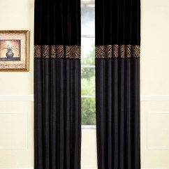 Black And Beige Living Room Curtains Wall Units Modern Home Fashions International & Tan Zebra Curtain ...