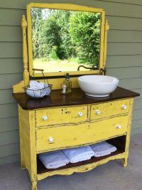 Dresser turned sink vanity.   Painted Furniture-Grab your ...