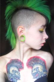 green mohawk punk girl exploited
