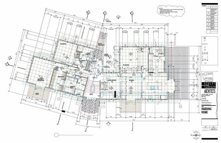 Harding Home Construction Documents Main Floor #25