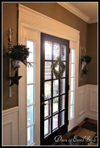 add molding over front door | Home decore | Pinterest ...