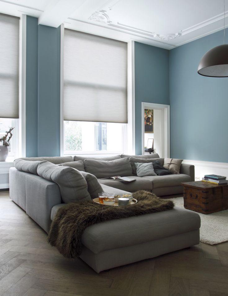25 beste ideen over Blauwe woonkamers op Pinterest