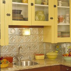 Metallic Kitchen Wall Tiles Kohler Sinks Porcelain 25+ Best Tin Tile Backsplash Ideas On Pinterest | Slate ...