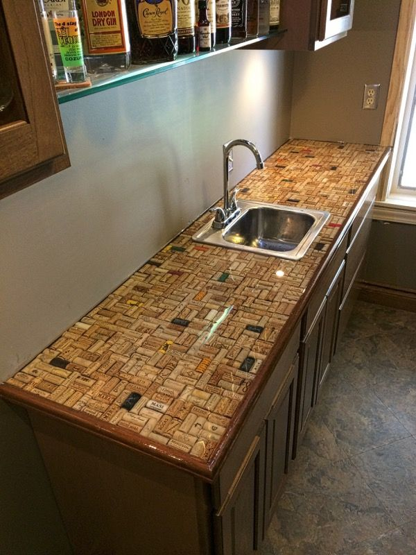 resurface kitchen countertops remodel designs cork countertop covered with ultra clear epoxy | bars ...