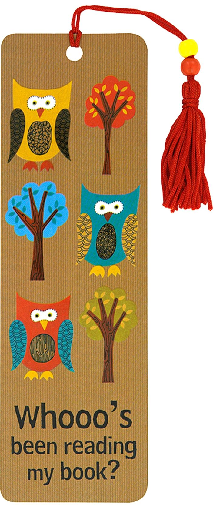 Owls Beaded Bookmark Peter Pauper Press 9781593593261