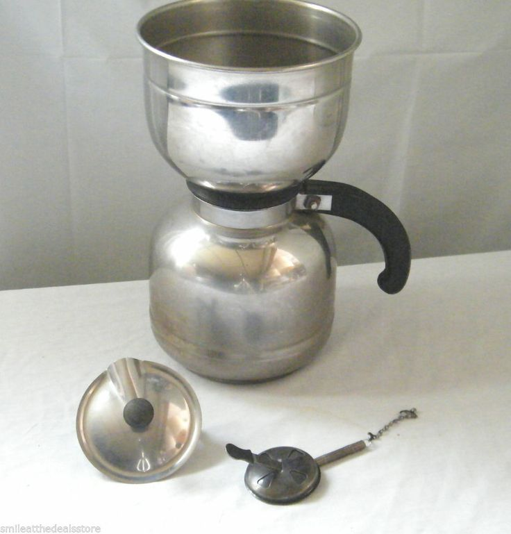 Vintage nicro stainless steel vacuum coffee maker pot made in the usa  Vacuums Pots and Steel
