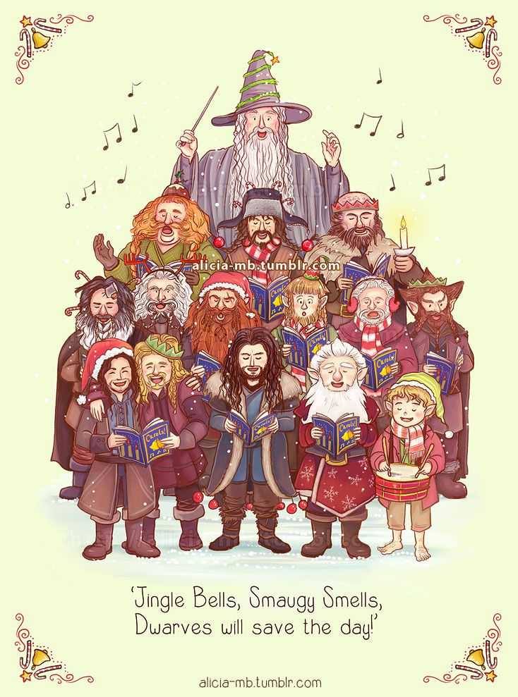 Geeky Christmas Cards The Lord Of The Rings The Hobbit