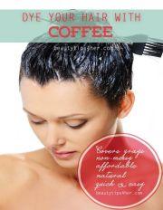 dye hair with coffee