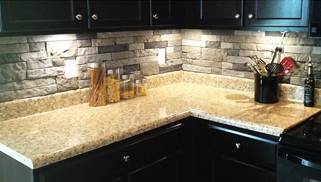 Airstone Backsplash Home Design Ideas Pinterest A Hack Cool Stuff And Stone Backsplash