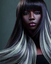 gray hair extensions. ideas
