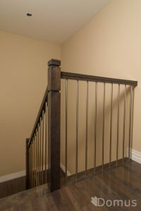 Modern staircase with Zen posts and stainless steel ...