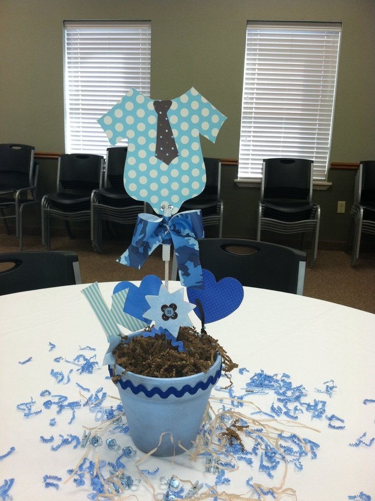 Baby shower centerpiece  baby boy  Lets Party