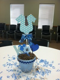 Baby shower centerpiece - baby boy!!! | Surprise! Its a ...