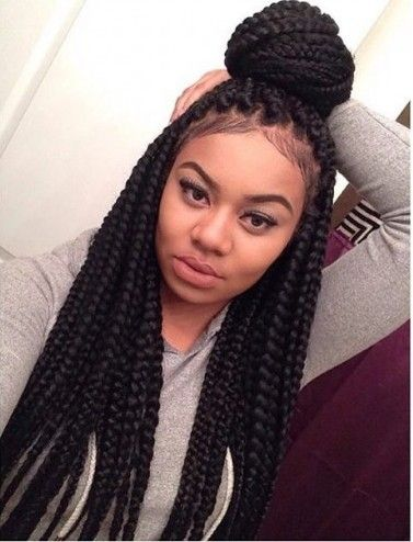96 Best Images About Box Braids Updo Hairstyles On Pinterest Big