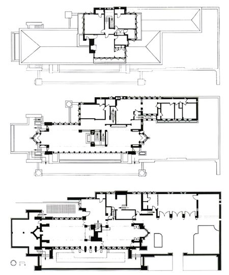 Robie House, Chicago, 1908, by Frank Lloyd Wright