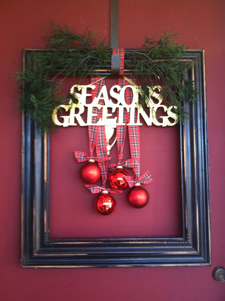 Picture Frame Christmas Wreath Ideas Frameswalls