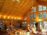 Lighting for vaulted ceiling.