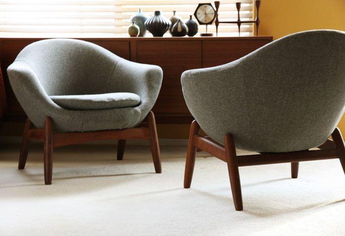 Ill take 2 Danish Lounge Easy chair pods Teak Mid