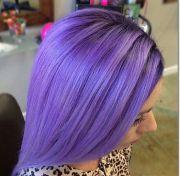 purple hair streaks ideas