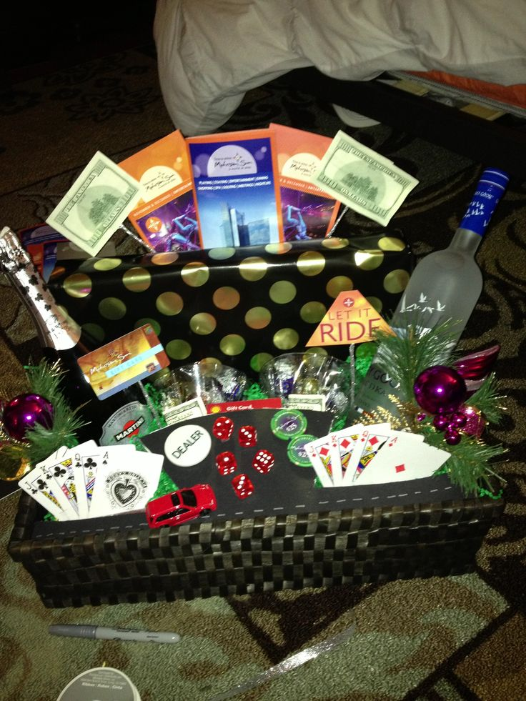 17 Best Images About Casino Gift Basket On Pinterest